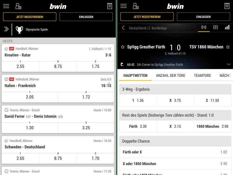 bwin-mobile app