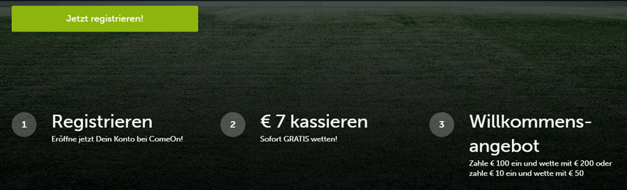 ComeOn Sportwetten Bonus