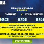 BVB oder FCB gewinnt zu Spezial-Quoten William Hill