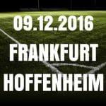 Eintracht Frankfurt - 1899 Hoffenheim Tipp 09.12.2016