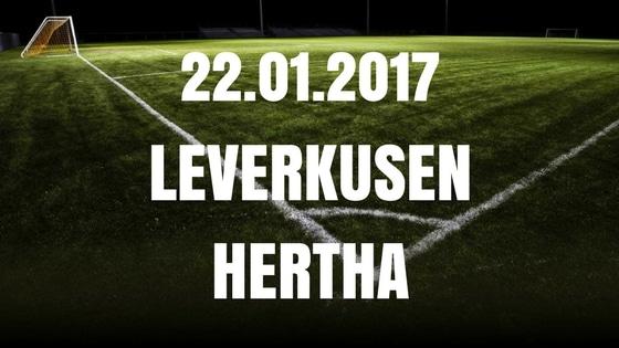 Bayer Leverkusen – Hertha BSC Berlin Tipp und Vorschau 22.01.2017