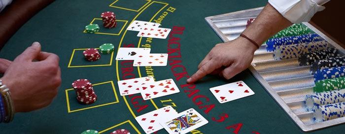 Blackjack-Tisch in einem Casino