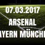 Arsenal London - FC Bayern München Tipp und Vorschau 07.03.2017