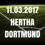 Hertha BSC - Borussia Dortmund Tipp und Vorschau 11.03.2017