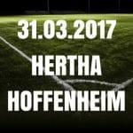 Hertha BSC - 1899 Hoffenheim Tipp und Vorschau 31.03.2017