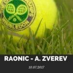 Milos Raonic - Alexander Zverev Wimbledon Tipp 2017