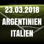 Argentinien – Italien Freundschaftsspiel Tipp 23.03.2018