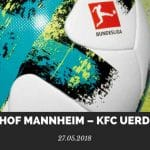 Waldhof Mannheim – KFC Uerdingen Tipp 27.05.2018