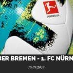 Werder Bremen – 1. FC Nürnberg Tipp 16.09.2018