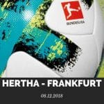 Hertha BSC Berlin – Eintracht Frankfurt Tipp 08.12.2018