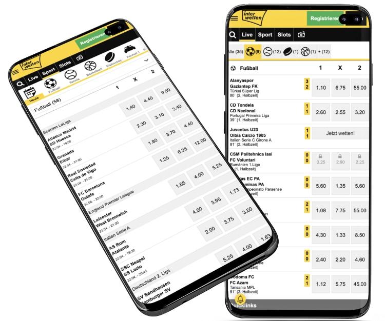 Interwetten Wett-App