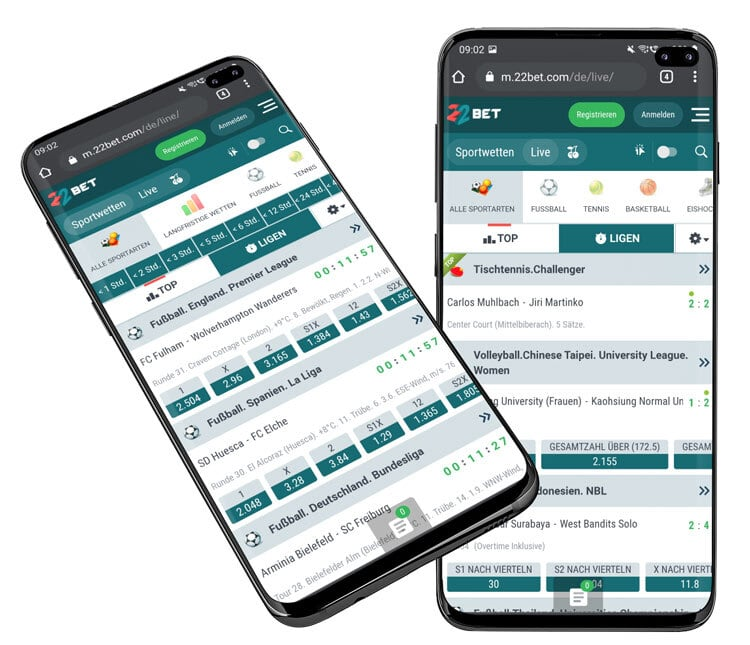 22bet Sportwetten App