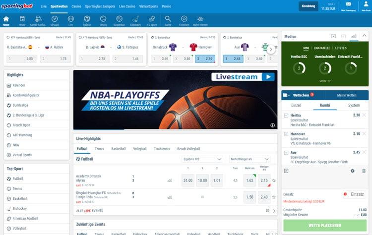 sportingbet-webseite