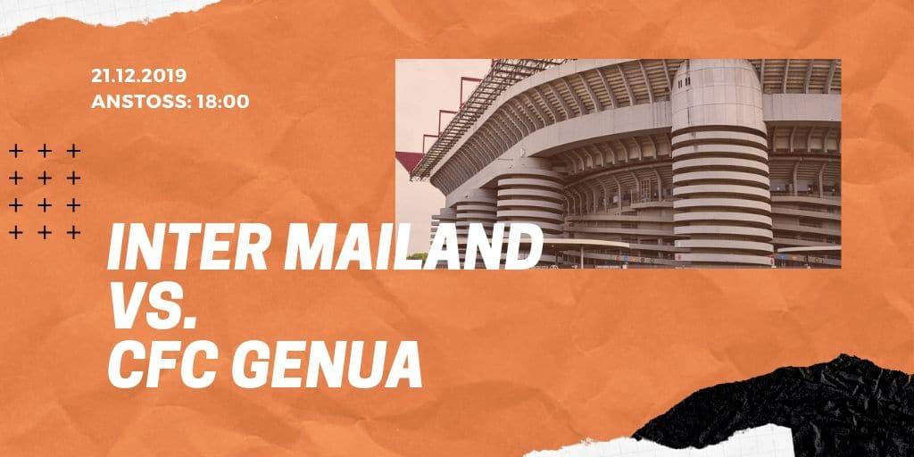 Inter Mailand - CFC Genua 1893 21.12.2019 Serie A
