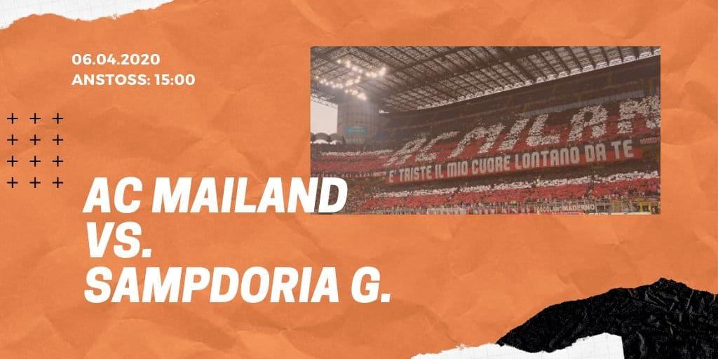 AC Mailand - Sampdoria Genua 06.01.2020 Serie A