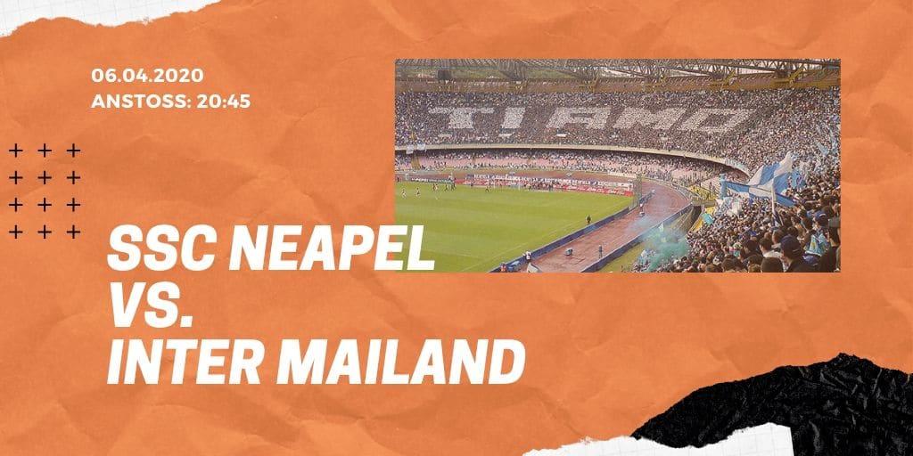 SSC Neapel - Inter Mailand 06.01.2020 Serie A