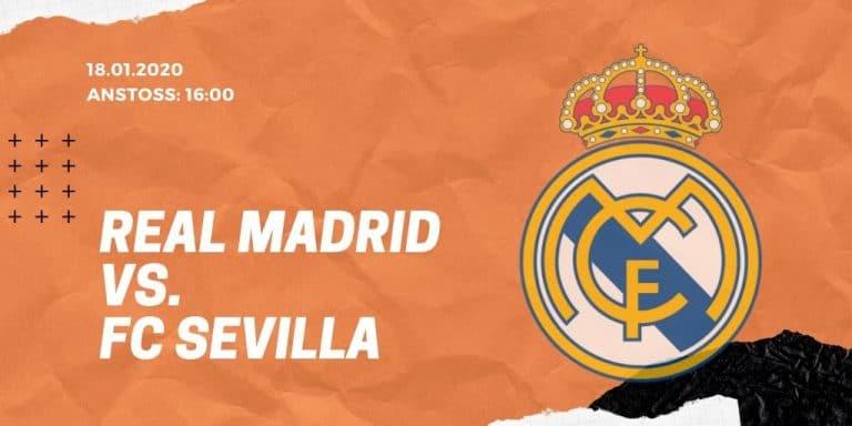 Real Madrid - FC Sevilla 18.01.2020 La Liga