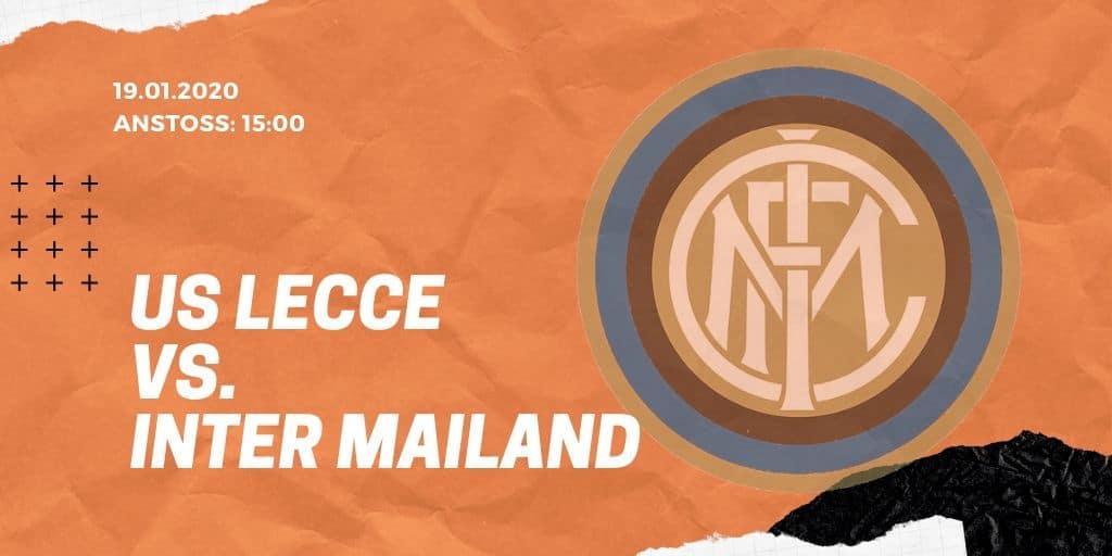 US Lecce - Inter Mailand 19.01.2020 Serie A