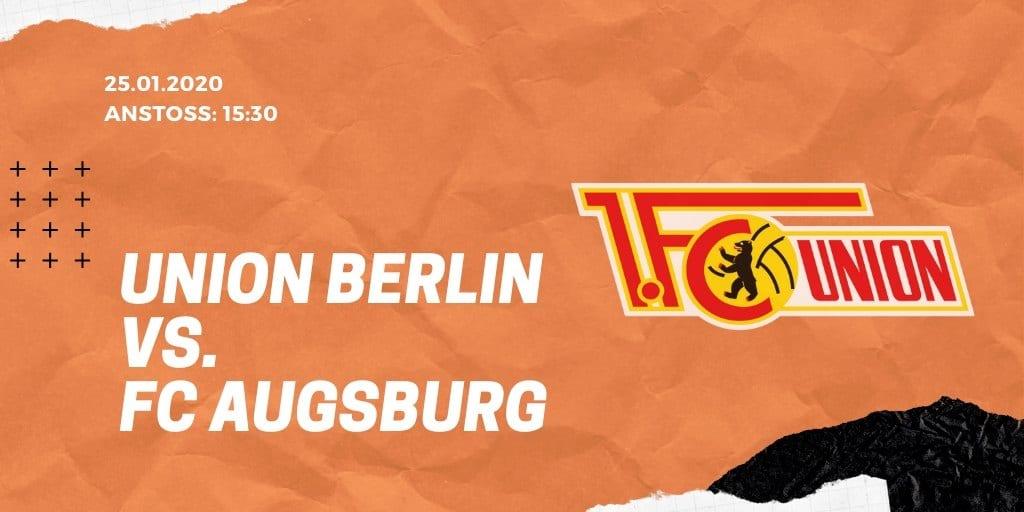 1.FC Union Berlin – FC Augsburg 25.01.2020 Bundesliga