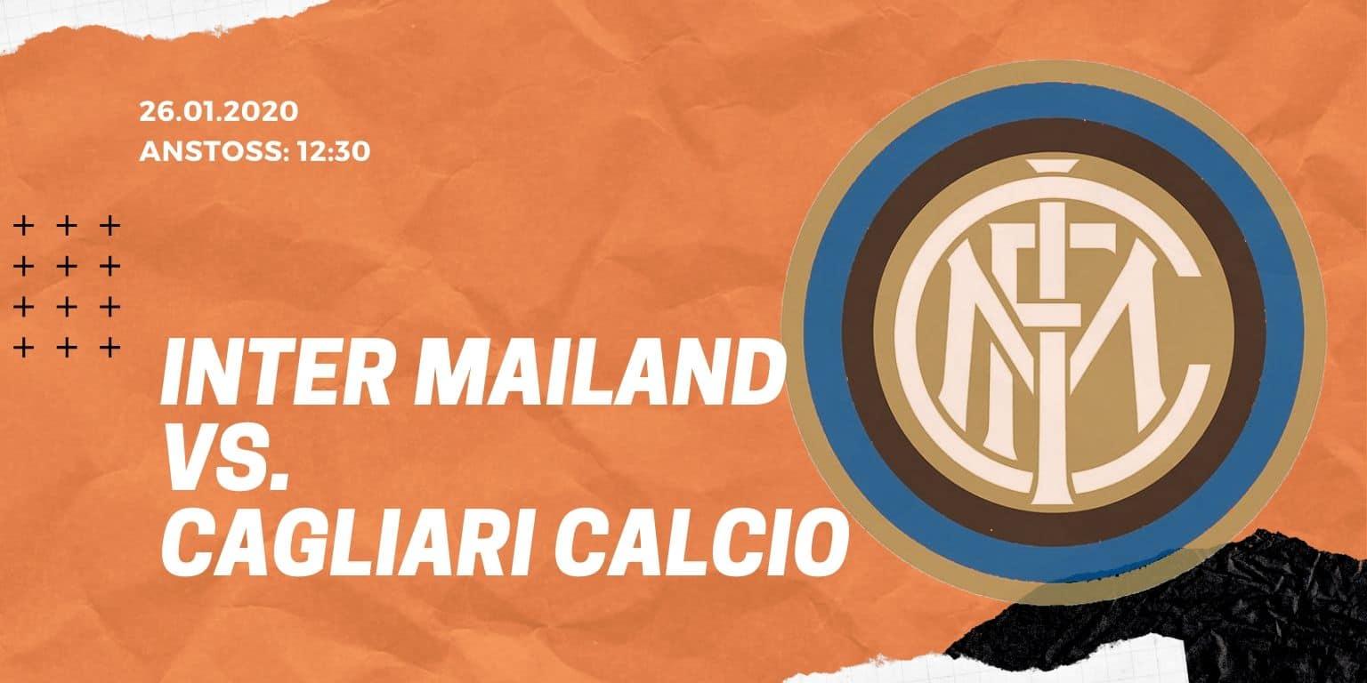 Inter Mailand - Cagliari Calcio 26.01.2020 Serie A
