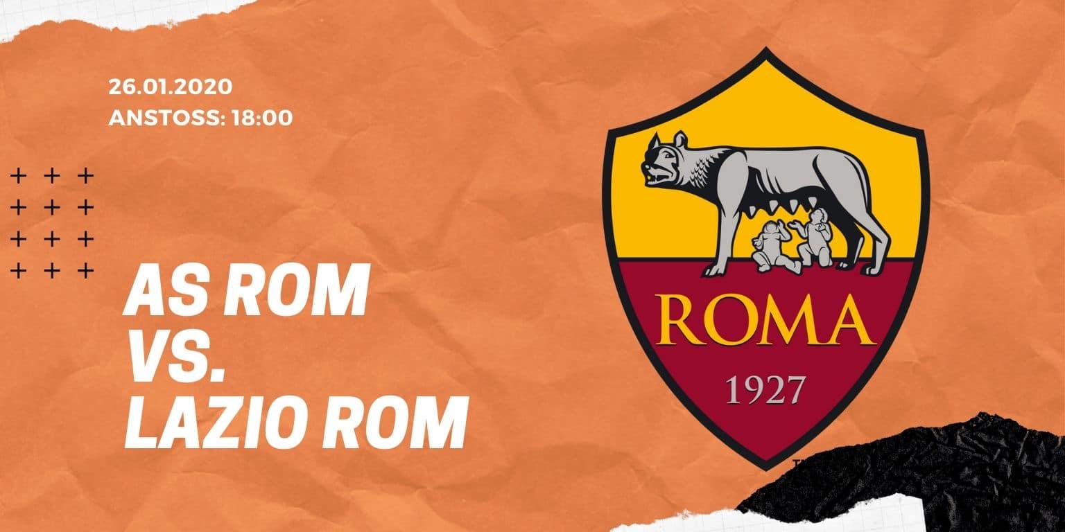 AS Rom - Lazio Rom 26.01.2020 Serie A