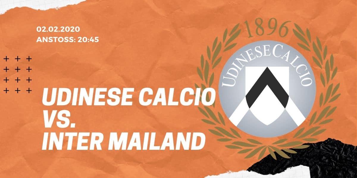 Udinese Calcio - Inter Mailand 02.02.2020 Serie A