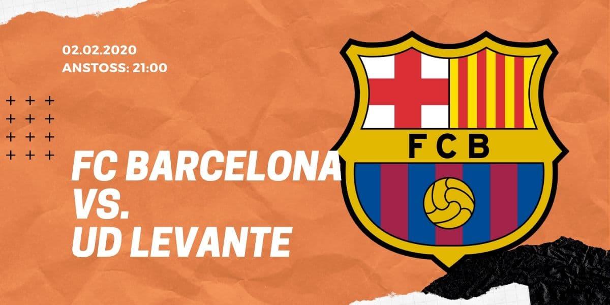 FC Barcelona - UD Levante Tipp 02.02.2020 La Liga