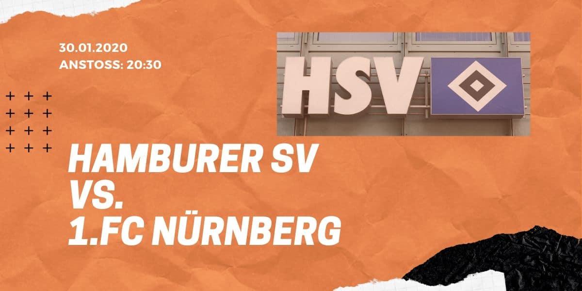 Hamburger SV - 1. FC Nürnberg, 30.01.2020 2. Bundesliga
