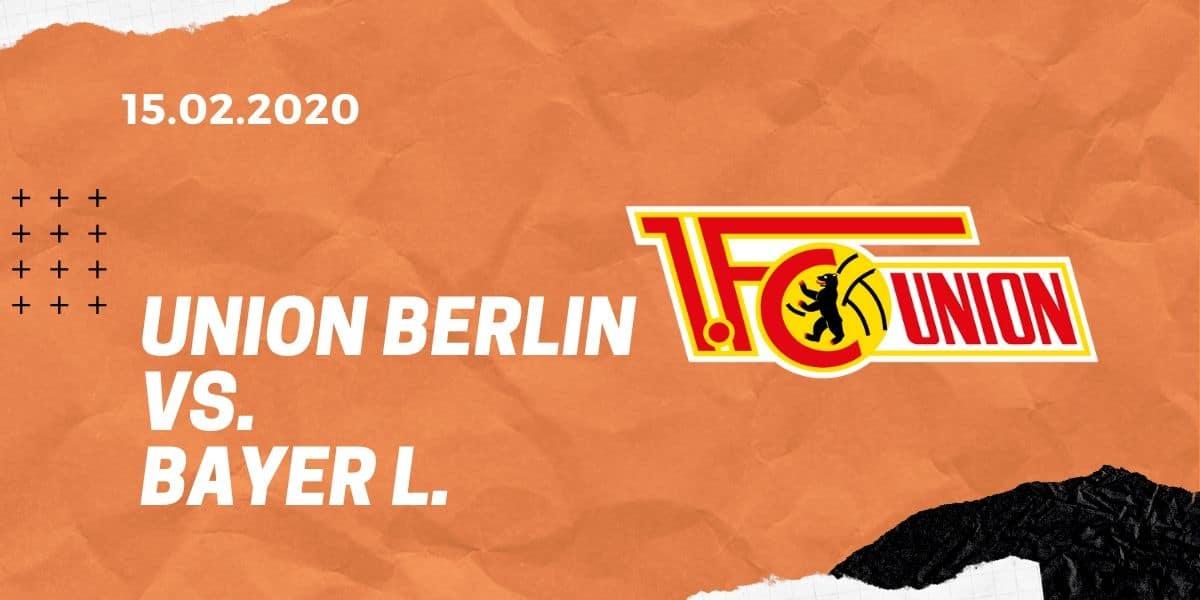 1.FC Union Berlin - Bayer 04 Leverkusen Tipp 15.02.2020 Bundesliga