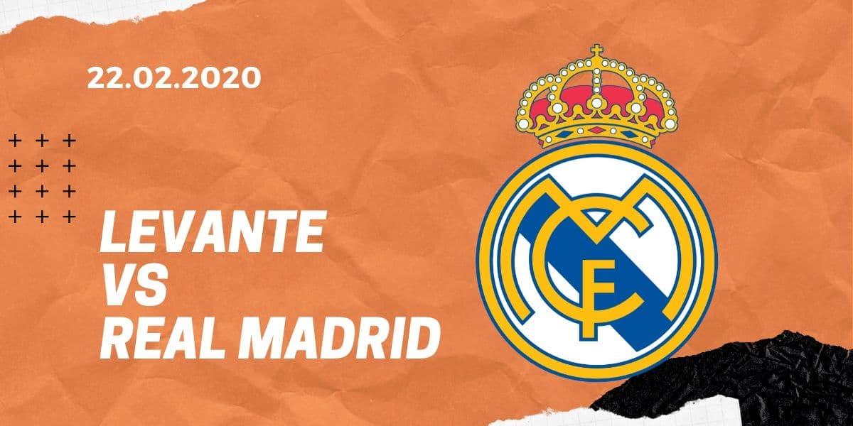 UD Levante - Real Madrid Tipp 22.02.2020 La Liga