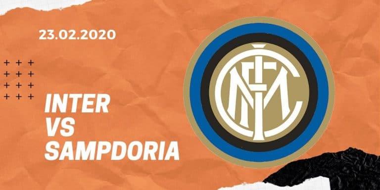 Inter Mailand - Sampdoria Genua Tipp 23.02.2020 Serie A