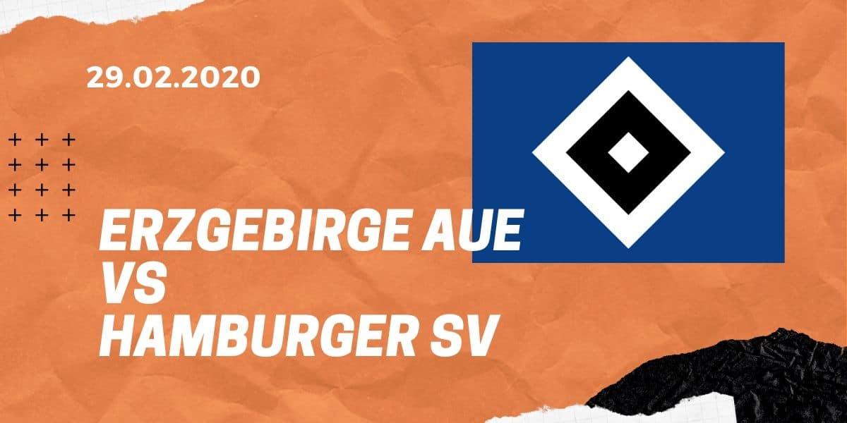 Erzgebirge Aue - Hamburger SV Tipp 29.02.2020 - 2. Bundesliga