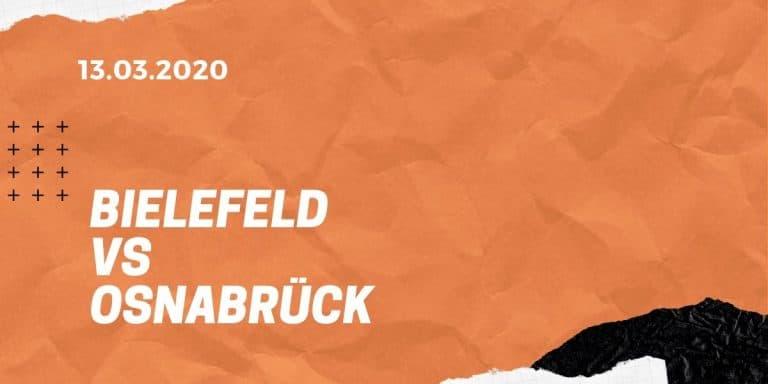 Arminia Bielefeld - VfL Osnabrück Tipp 13.03.2020 - 2. Bundesliga