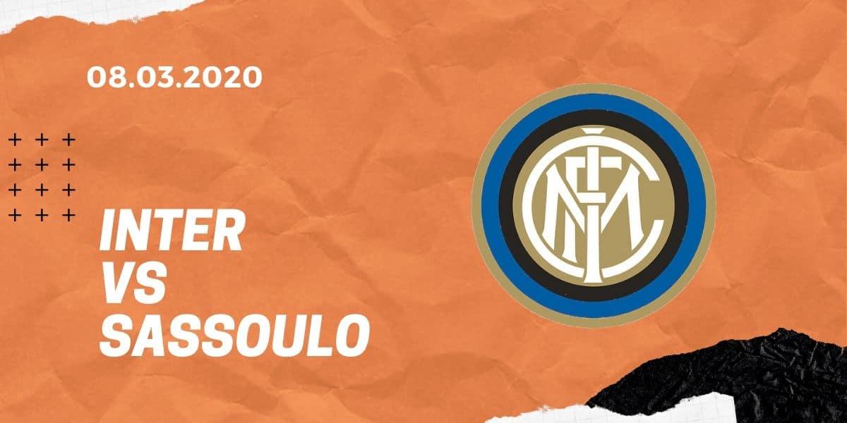 Inter Mailand - Sassuolo Calcio Tipp 08.03.2020 Serie A