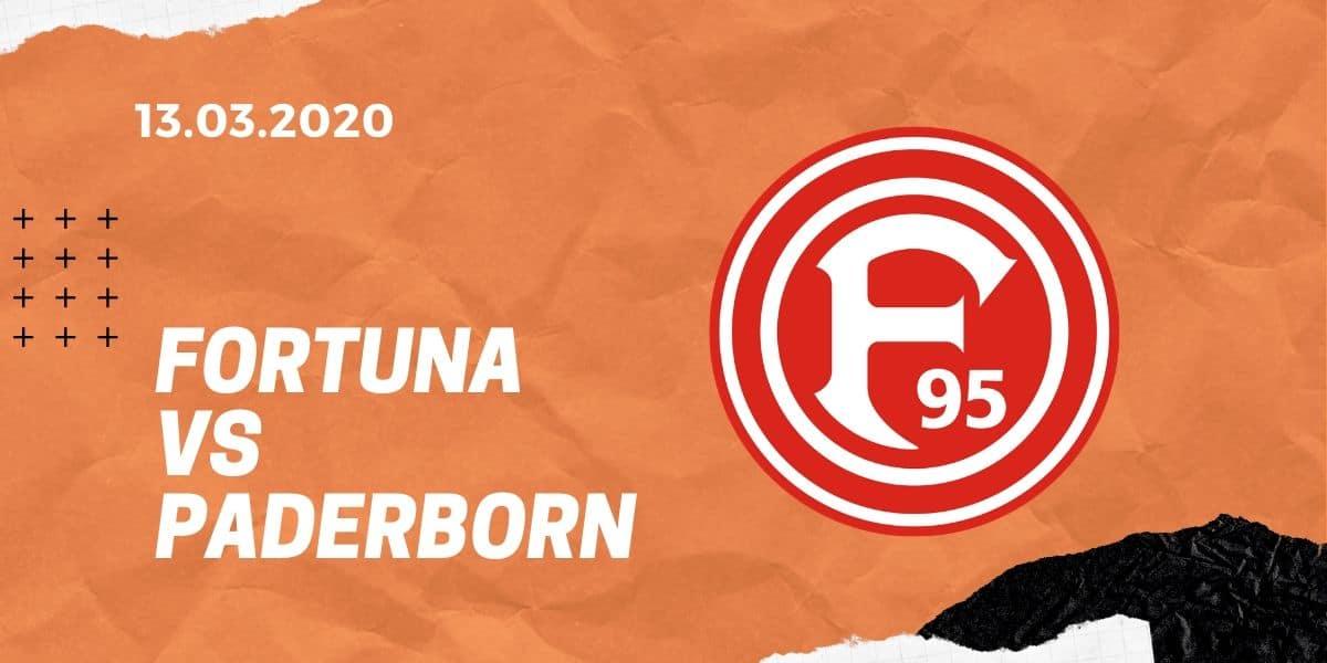 Fortuna Düsseldorf - SC Paderborn 07 Tipp 13.03.2020 Bundesliga
