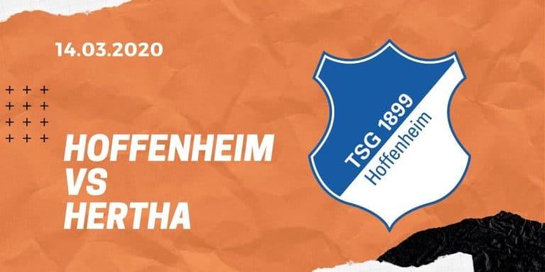 TSG Hoffenheim - Hertha BSC Tipp 14.03.2020 Bundesliga