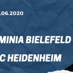 Arminia Bielefeld - 1. FC Heidenheim Tipp 28.06.2020