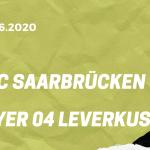 1.FC Saarbrücken - Bayer 04 Leverkusen Tipp