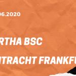 Hertha BSC – Eintracht Frankfurt Tipp 13.06.2020
