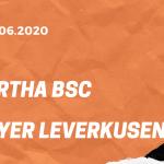 Hertha BSC – Bayer 04 Leverkusen Tipp 20.06.2020
