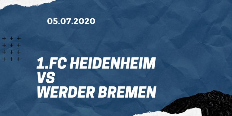 1.FC Heidenheim – SV Werder Bremen Tipp 05.07.2020 Relegation