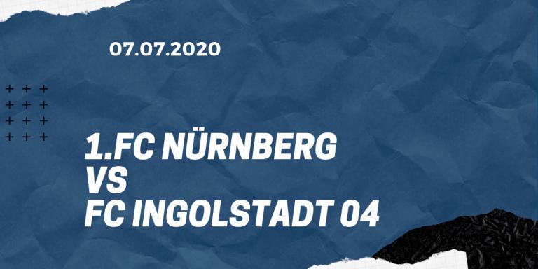 1.FC Nürnberg - FC Ingolstadt 04 Tipp 07.07.2020 Relegation