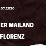 Inter Mailand - AC Florenz Tipp 22.07.2020