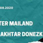 Inter Mailand - Shakhtar Donezk Tipp 17.08.2020