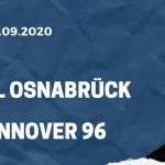 VfL Osnabrück - Hannover 96 Tipp 25.09.2020