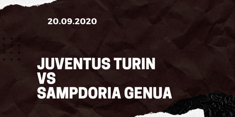 Juventus Turin - Sampdoria Genua Tipp 20.09.2020