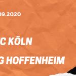 1.FC Köln – TSG 1899 Hoffenheim Tipp 19.09.2020