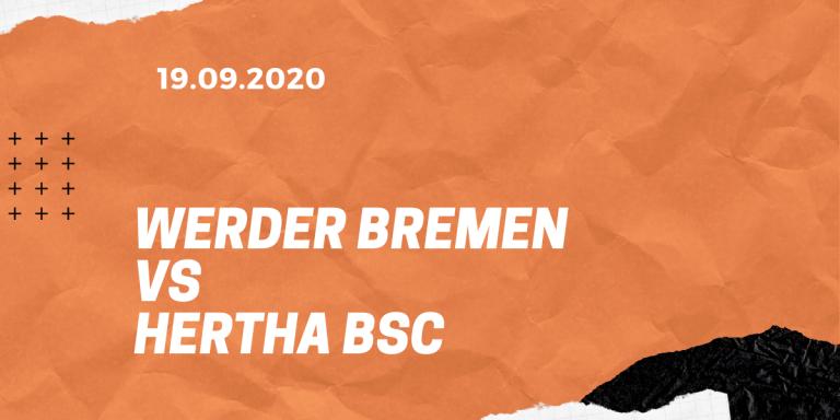 SV Werder Bremen – Hertha BSC Tipp 19.09.2020
