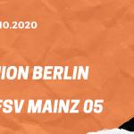 1.FC Union Berlin – 1. FSV Mainz 05 Tipp 02.10.2020