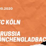 1.FC Köln – Borussia Mönchengladbach Tipp 03.10.2020